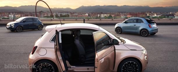 Den elektriske Fiat 500 får en ekstra dør - og danske priser