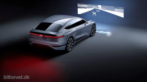 Audis elektriske A6 får 700 kilometer rækkevidde og indbygget projektor