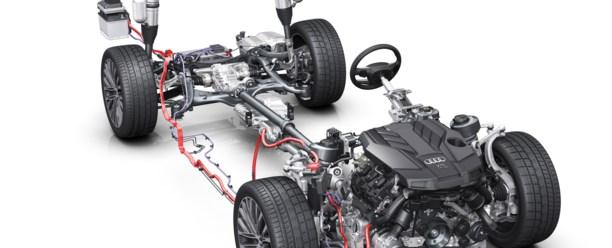 Mildhybridteknologi i den kommende Audi A8