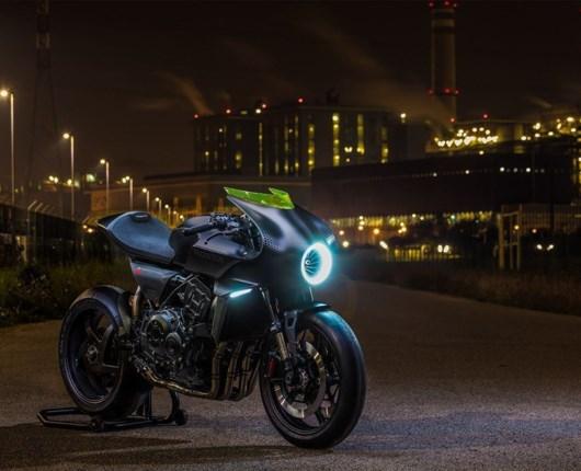 Honda går helt i sort med futuristisk motorcykel