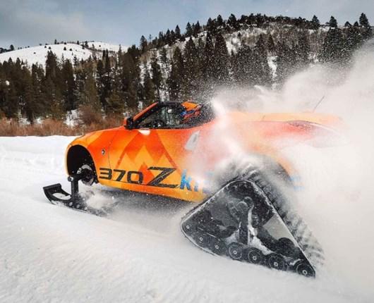Topløst vintersjov – Nissan 370Z på larvefødder