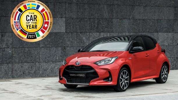 Toyota Yaris slår favorit i kampen om Årets Bil i Europa 2021