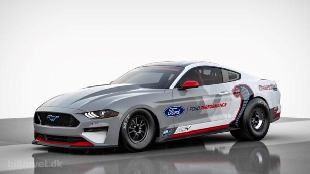 Torden og lynild – Ford bygger elektrisk Mustang-dragster med 1.400 hk