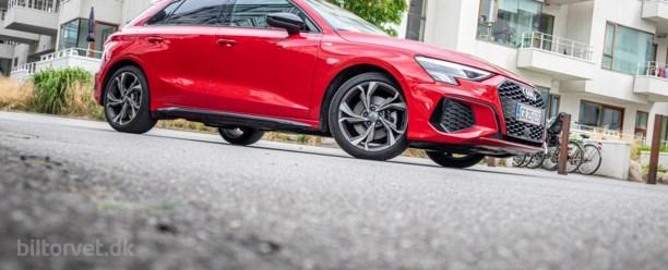 Sporty Audi A3 med åndenød