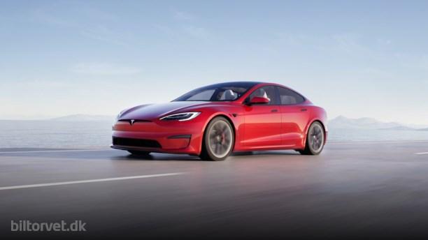 Faceliftet Tesla Model S har Porsche Taycan i sigtet