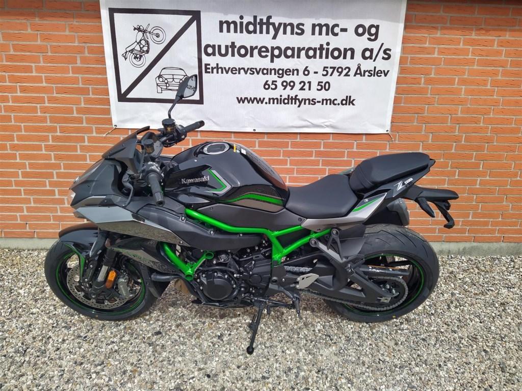 Kawasaki Z H2 grønt stel 200HK 6g 2020