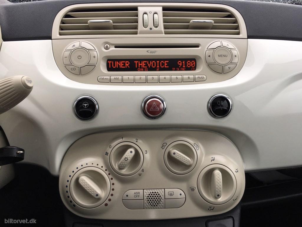 Fiat 500 1,2 Lounge 69HK 3d 2009
